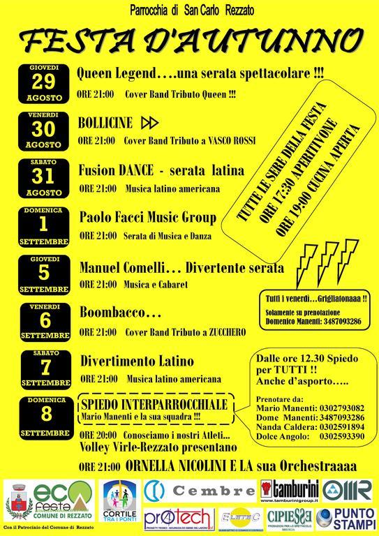 FESTA D'AUTUNNO all'Oratorio di San Carlo