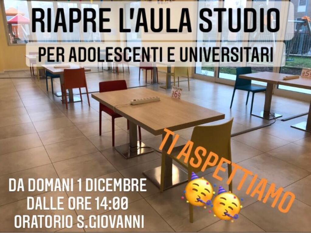 RIAPERTURA AULA STUDIO